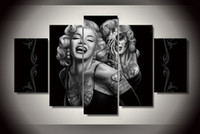 abstract canvas pictures - Day of the Dead Face canvas wall art painting for home decoration abstract figure painting of Marilyn Monroe