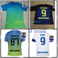 Wholesale Top Thailand Quality Inter Milan Jerseys patch Home Away soccer jersey ICARDI JOVETIC PERISIC football Jersey