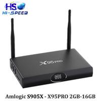 android box vga - 10pcs Metal s905x X95pro GB16GB Android Marshmallow TV Box Amlogic S905X Quad Core KODI H K HD M8S