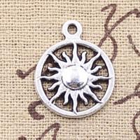 antique tibetan silver - 120pcs Charms sun mm Antique Making pendant fit Vintage Tibetan Silver DIY bracelet necklace