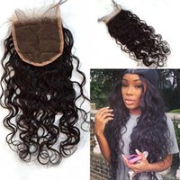 Wholesale Indian Human Hair Water Wave Lace Closure A Middle Free Part Virgin Hair Lace Closure