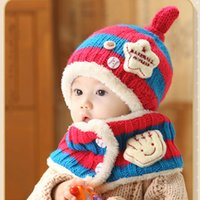 Wholesale Baby hat winter and winter baby hat months children hats children Hooded wool hat Christmas gifts