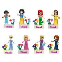 Wholesale 2016 Hot sale Princess Mini figures blocks Girl Building Blocks Mini Figure Dolls Bricks Blocks for Girl Kids DIY Assemblage Toy set