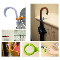 Wholesale 2X Plastic Lovely Candy Color Umbrella Hanger Holder Stands Support Rack Mount Handy Multifunctional Tool