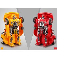 Wholesale New Amazing Feng Source Remote Control A Key Modification Bumblebee Robot to Car Bumblebee Toy Car For Kids