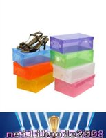 Wholesale New Arrival Transparent Stackable Crystal Clear Plastic Shoe Clamshell Storage Boxes MYY