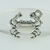 animals cancer - 15236 Alloy Antique Silver Vintage Mini Animal Crab Cancer Pendant Charm