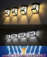 Luces led solar led solar Baratos-Spuper impermeable brillante solar de la pared solar lámparas LED ABS Camino iluminaciones de pared jardín de la luz al aire libre Patio paso de la escalera MYY luces de camino cerca de la lámpara