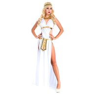 ancient greek dress - New Adult Womens Sexy Halloween Party Ancient Greek Goddess Costumes Outfit Fancy Cosplay Dresses Size M