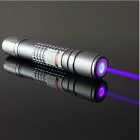 Wholesale NEW high power m nm green red purple blue violet laser pointers focusable burning black match cigarettes Uv counterfeit detector