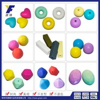 Wholesale Silica gel beads jewelry FDA baby chewing heart beads food grade silica gel beads beads DIY necklaces
