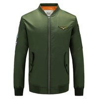 air force one flight jacket - 2016 autumn new arrive Air Force One Stand collar men s jacket Casual MA01 sport jacket plus size men s coat Flight coat ARMY GREEN