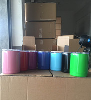 Wholesale DHL oz Corlored YETI Mug Double Walled Stainless Steel Travel Mug Tumbler Vacuum Insulated oz YETI Cup with Logo