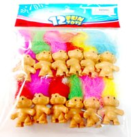 Wholesale Toys Mini Lucky Troll cm Pencil Top Fun Party Favor Toy Game Wholesales Vending Fun Gift Bags Novelty H210808