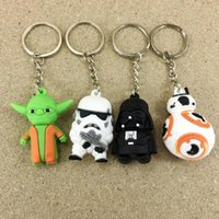 Wholesale Star Wars Keychains Darth Vader white soldiers sided cartoon doll pendant key ring chain ring