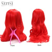 Wholesale Neitsi Hot Long Wavy Synthetic Wigs Fashion Costume Hair Wigs Charming Curly Red Wigs for Women