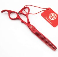 Wholesale or inch Red Barber Scissors Hairdressing Scissors Hair Cutting Tool Combination Package