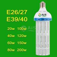 Cheap led corn light bulbs lamp 200w 150w 120w 100w 80w 60W 40W 30w E26 E27 E39 E40 garden warehouse parking lot lighting street lamp