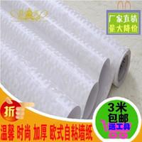 bathroom white tiles - Adhesive waterproof wallpaper wallpaper thickening kitchen bathroom toilet imitation ceramic tile Korean rice white Mosaic sticker