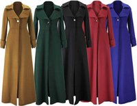 Wholesale 9010 Tracyexo Lady long sleeve Coats Outerwear Single button Black red bloue green blue kahki colors S XXL
