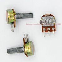 Wholesale K B500K OHM WH148 B500K MM Single Rotary Potentiometer Linear Taper Pots Shaft mm With Nuts and Shim