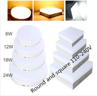 Wholesale 6W W W W Square Round Led Panel Light Surface Mounted leds Downlight ceiling down V lampada led lamp LED Driver