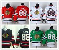 Wholesale 2016 Cheap Youth Chicago Blackhawk Patrick Kane Green Black Red White Kids Blackhawks Nhl Ice Hockey Boys Stitched Jerseys