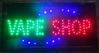 Wholesale direct selling LED Vape Shop sign custom neon signs of electronic cigarettes shop open business inch
