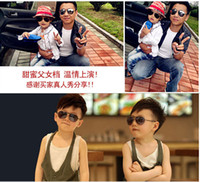 baby boy silver frames - free Design Children Girls Boys Sunglasses Kids Beach Supplies UV Protective Eyewear Baby Fashion Sunshades Glasses