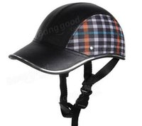 baseball safety helmet - Motorcycle Anti UV Helmet Baseball Cap Style Plaid Safety Half Helmets