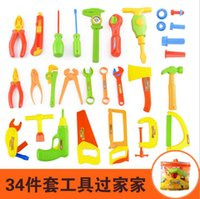 Wholesale 2016 Play house toy boy electric maintenance tools Mobile suit children s toolbox simulation DIY tools