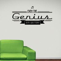 ask questions - Even The Genius Asks Questions Musical Symbols Art Wall Sticker Living Room Wall Decorative Accessories