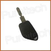 batteries key blank - blank keys for car peugeot remote key case fob replacements shell no logo with battery clip M19619