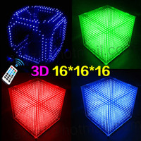 animation kits - DIY D S LED Light Cube With Animation Effects D CUBE x16x16 D LED Kits Junior D LED Display Christmas Gift