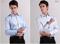 Wholesale quality Mens classic French cuff shirt Brand Formal Shirts for men Long sleeve dress shirt men Business man shirts colors