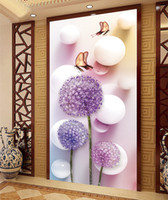 abstract digital wallpaper - 2016 A Large Mural Entrance TV Backdrop Wallpaper Bedroom Wallpaper Murals Nonwoven Fabric d Simple Modern Dandelion Unframed