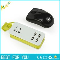 Wholesale Millet multi port smart USB phone chargeing plug strip outlet with the power cord travel socket outlet new hot