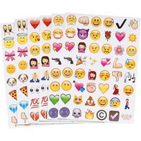 Wholesale 48 Die Cut Emoji Smile Sticker for Laptop for notebook message High Quality Vinyl funny creative X20