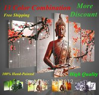 Wholesale High Quality Panel Wall Art Sets Religion Buddha Oil Painting Style On Canvas For Home Modern Decoration Living Room Picture