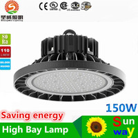 Wholesale 5 Years Warranty LED High Bay Light W Floodlight Warehouse Gas Station Bay Lighting New Canopy LED Lights outdoor ip66 Meanwell Driver