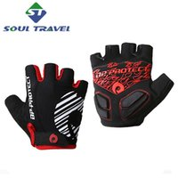 bicycle riding gloves - Soul Travel Men s Washable Polyester Half Finger Riding Bike Gloves Bicycle Sports Glove Mitten Cycling Guantes Ciclismo Luvas Real