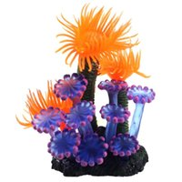 Wholesale Super Deal Home Soft Artificial Resin Coral Fish Tank Aquarium Lovely Decoration XT