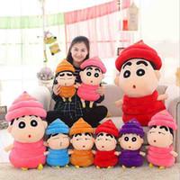 al por mayor shin chan juguetes de peluche-NEW funny kiss Crayon Shin-chan lucha contra la celebración de peluche muñeca muñeca de peluche relleno regalo de cumpleaños niño