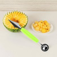 Wholesale 2 in Dual Head Fruit Melon Ice Cream Scoop Spoon Ball Baller Carving Knife