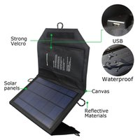 Wholesale 5v5w portable Solar Charger Mat Waterproof Portable Panel Charging Power Bank Packet Camping Partner For Cellphone Tablets