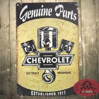 Wholesale Metal Tin Sign GENUINE CHEVY PARTS EST Garage Sign