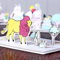 Wholesale Cheap holiday greeting card cartoon three dimensional form of greeting cards holiday general Christmas card Christmas teacher s da