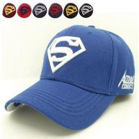 baseball amazing - 2016 cool amazing color casual gorras super man superman hero D logo baseball sport caps hats for men women unisex adjustable