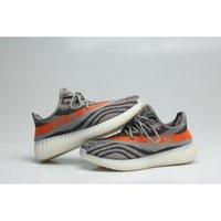 Wholesale Stripe Color Flats - HOT Boost Sply 350 Season 3 Orang Stripe man running outdoor shoes Sneakers men women shoes Grey orange color size 8