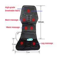 Wholesale Heated Back Massage Seat Topper Car Home Office Seat Massager Heat Vibrate Cushion Back Neck Massage Chair Massage Relaxation